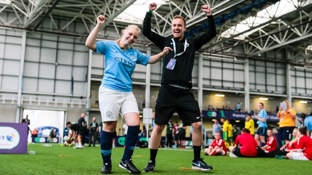ALL SMILES : The Premier League BT Disability Football Festival proved a big success