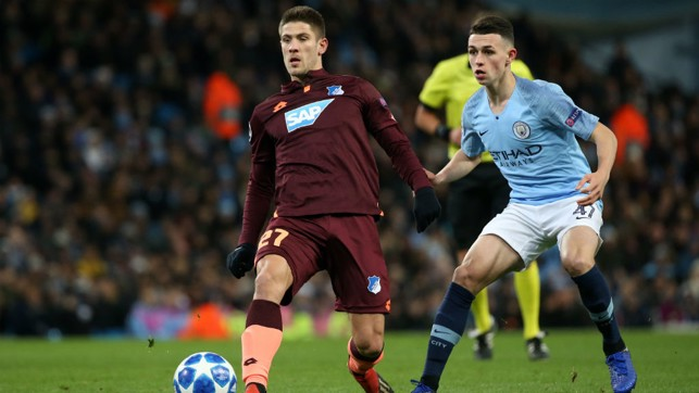 PHIL YOUR BOOTS : Fresh from penning his new deal, Phil Foden earned a starting berth