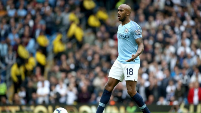 BACK : Delph made his first appearance of the season and looked impressive