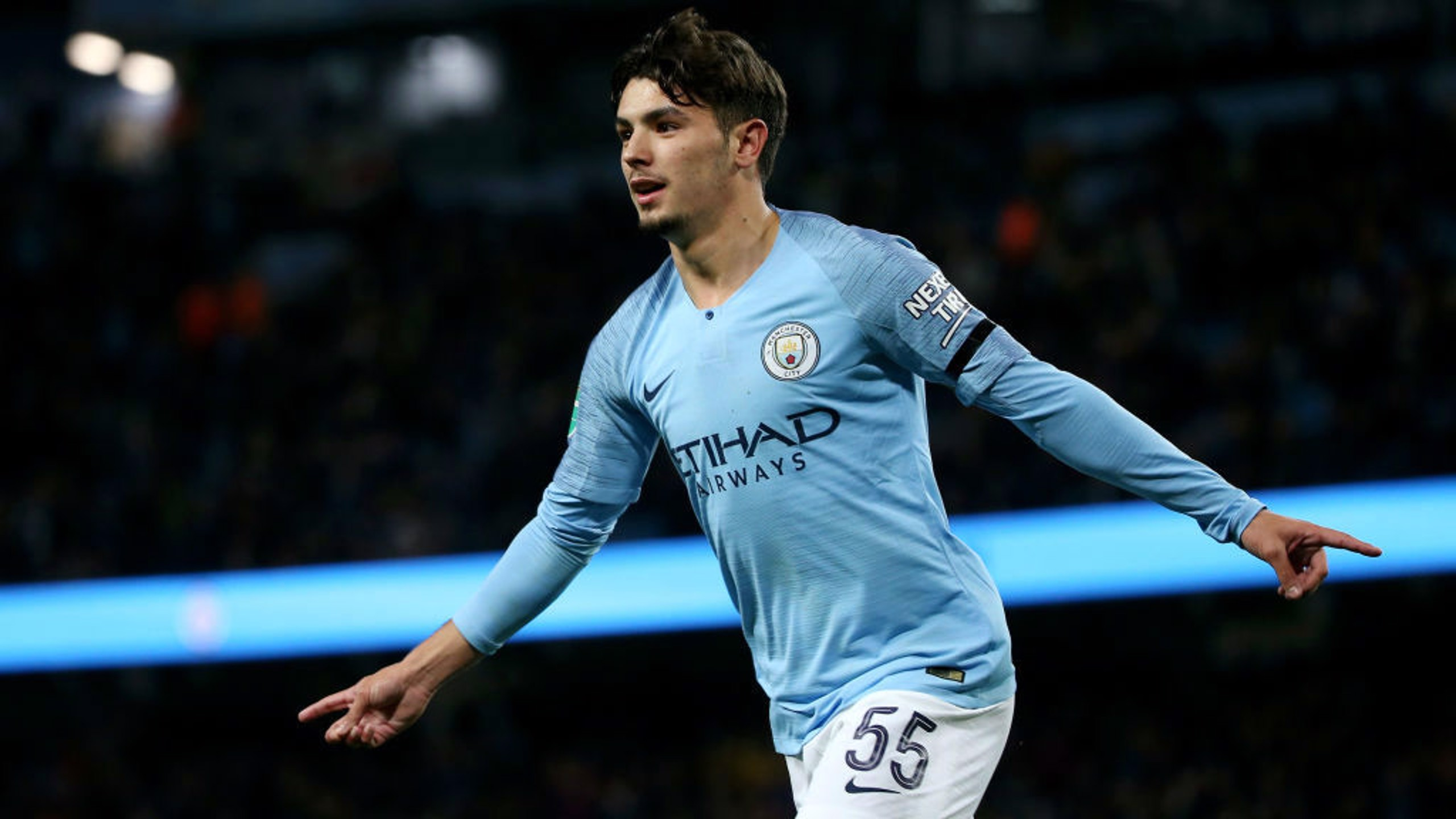 MAN OF THE HOUR: Brahim Diaz stuns as he nets his second of the match.