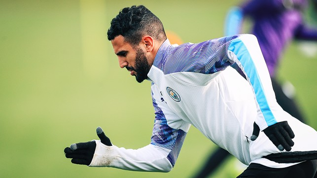 SHARP PRACTICE : It was also great to see Riyad Mahrez back in the swing of things after his African Cup of Nations qualifying duty with Algeria