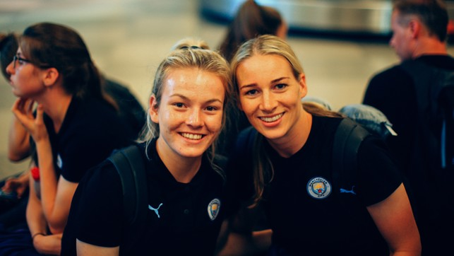 ATTACK AND DEFENCE : Lauren Hemp and Gemma Bonner