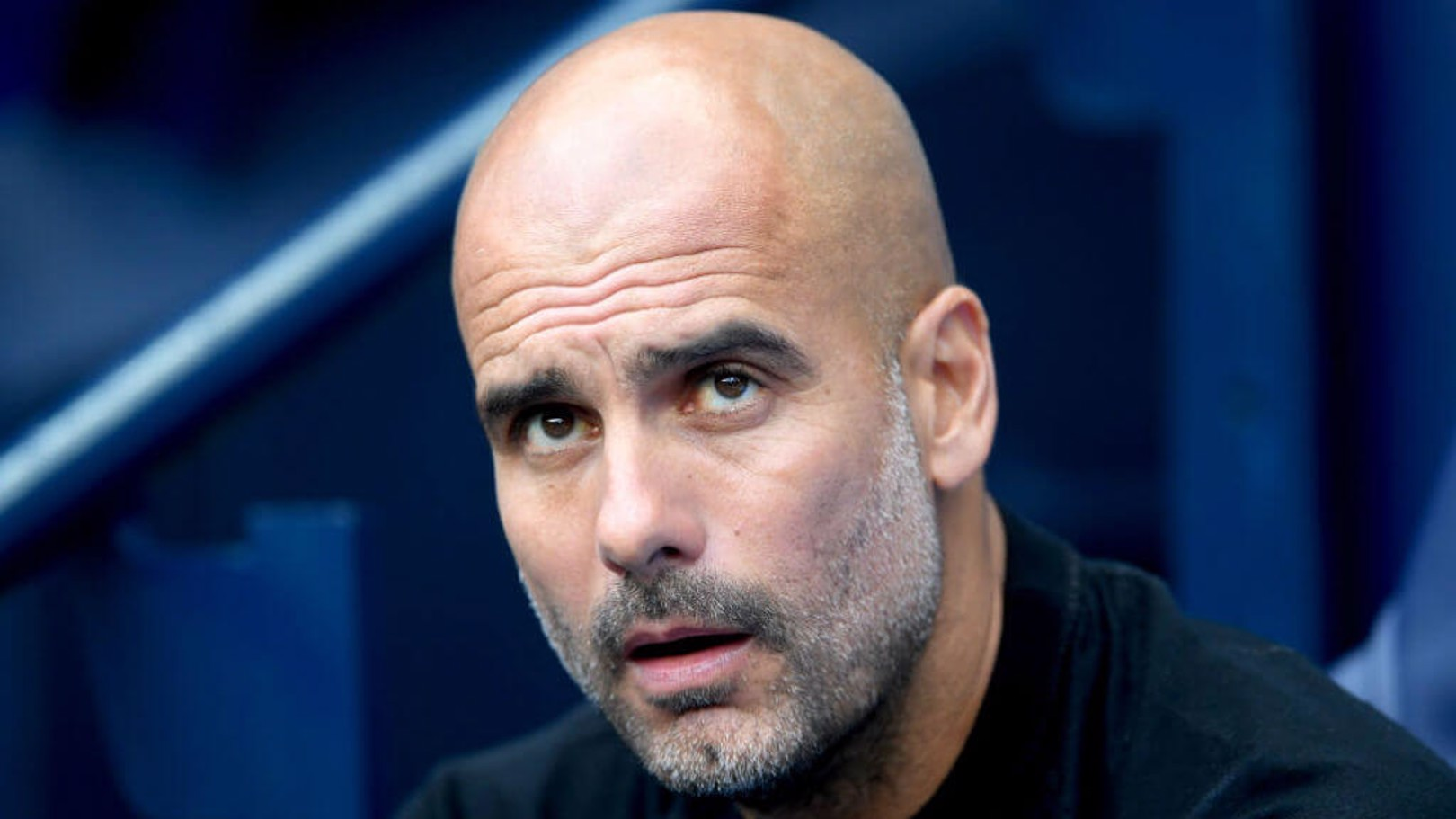 BOSS MAN: Pep watches on from the sidelines