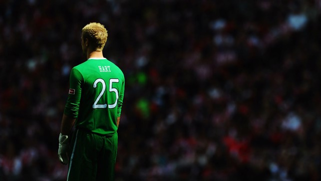 FINAL : An artistic shot of Hart during the FA Cup final in 2011.