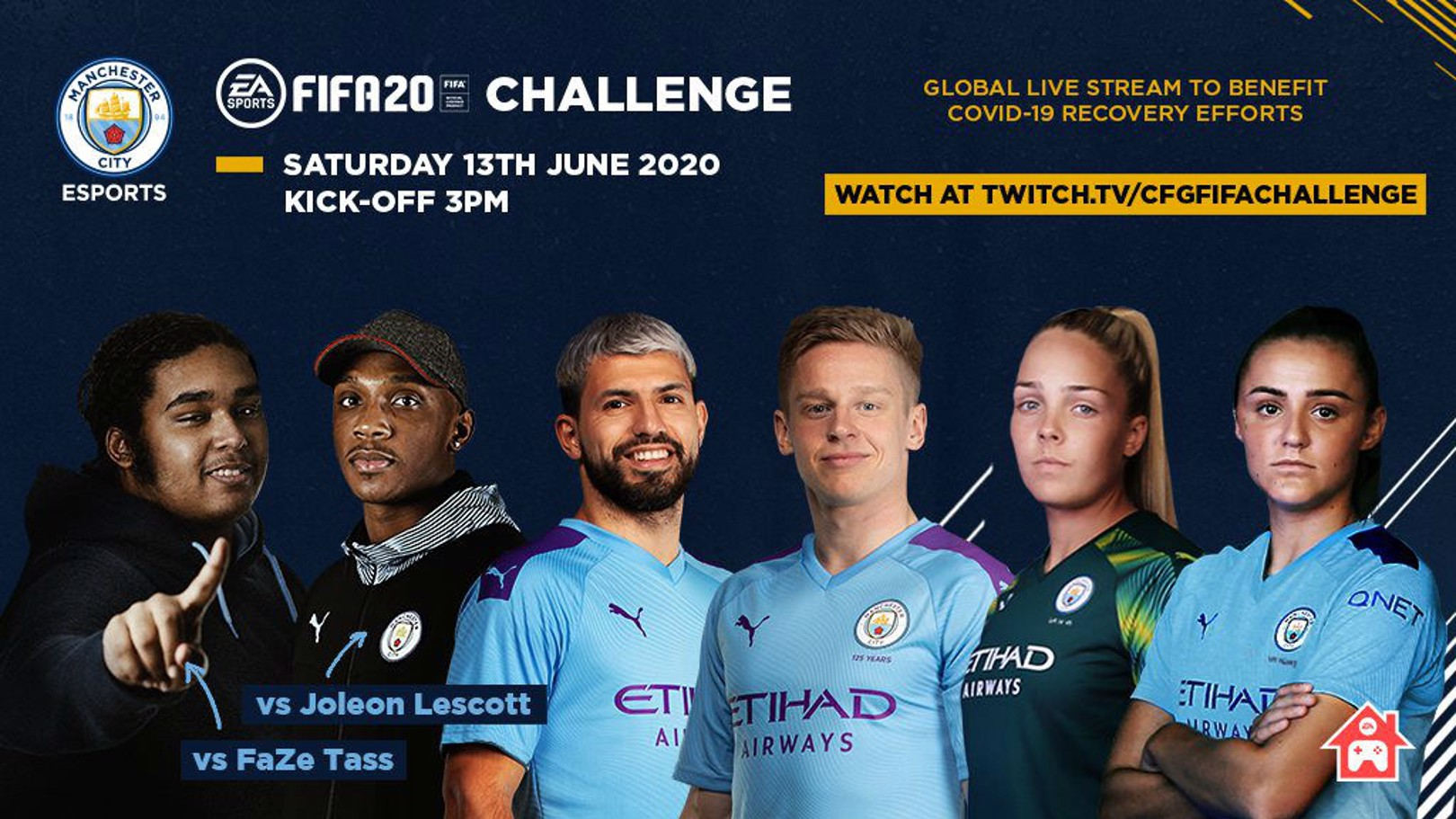 City players to take part in CFG FIFA challenge
