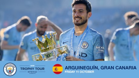 HOMECOMING: David Silva will be in Gran Canaria as part of our Trophy Tour.