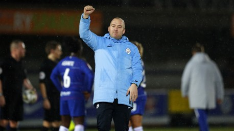 DELIGHTED: Nick Cushing reflects on the Conti Cup semi-final win over Chelsea...