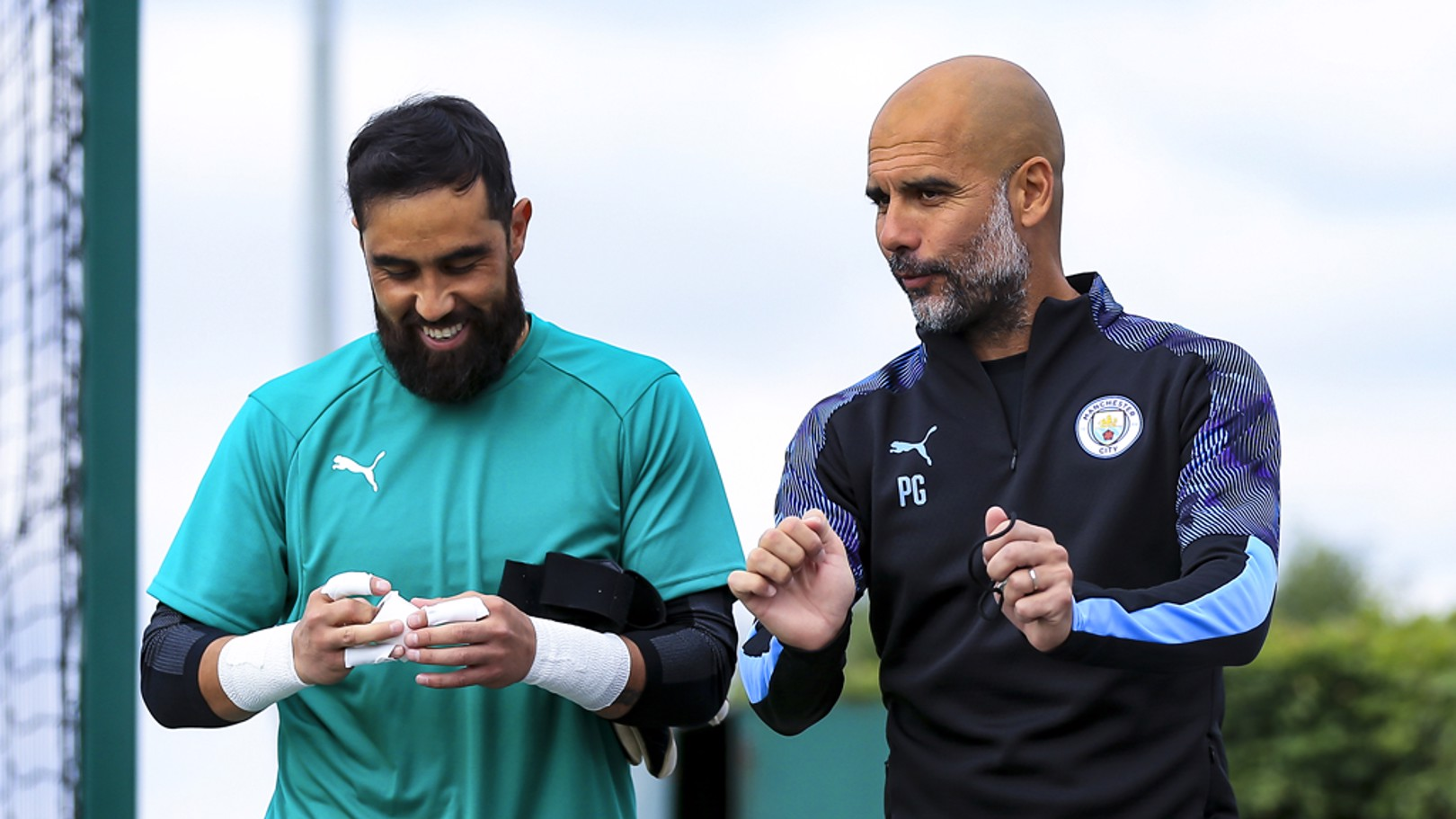 PEP TALK: The boss chats with Claudio Bravo