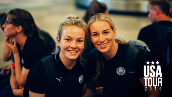 ATTACK AND DEFENCE: Lauren Hemp and Gemma Bonner