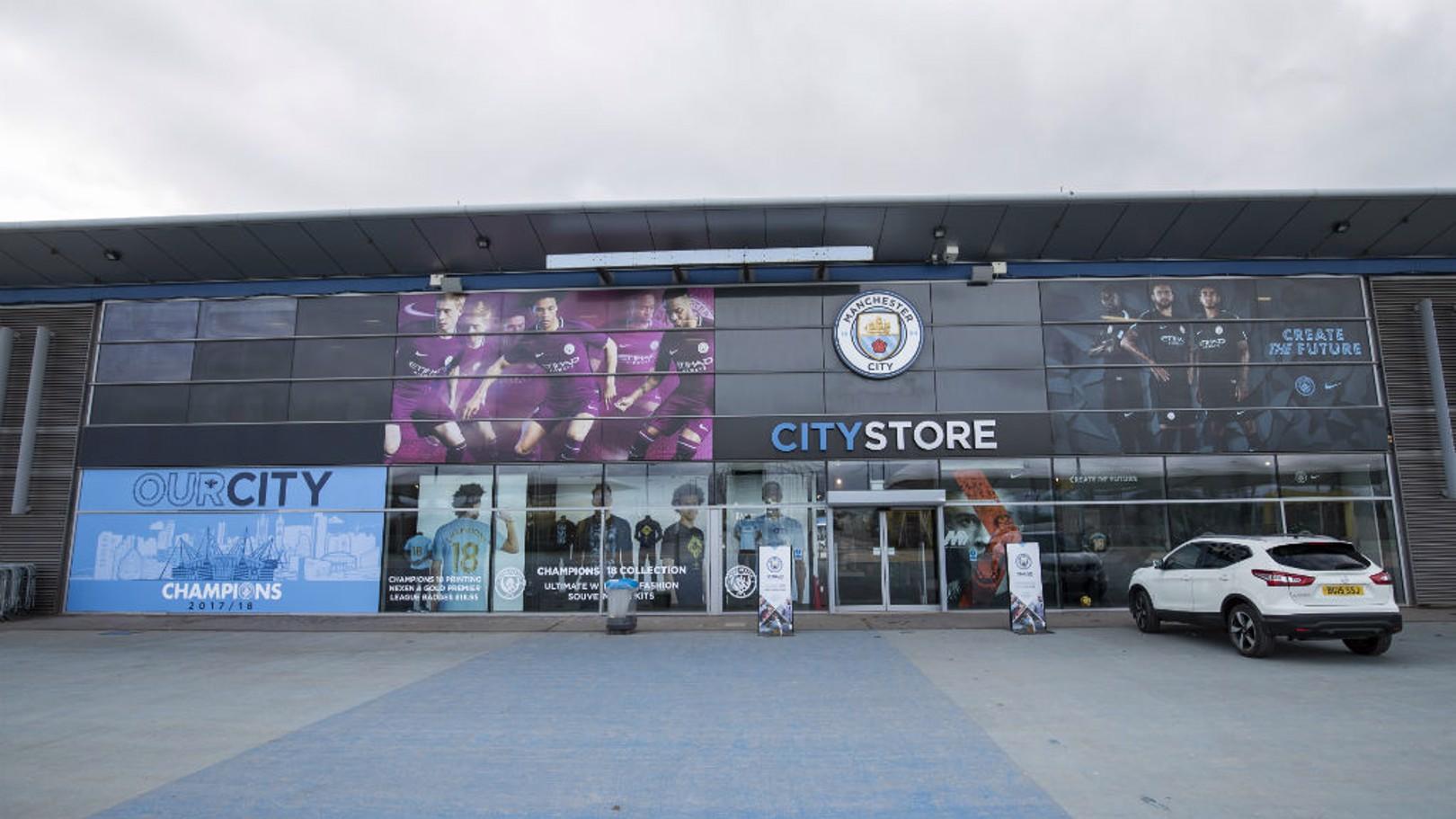 CLOSURE: The City store at the Etihad Stadium will shut for four weeks