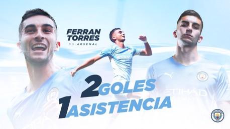 Ferran Torres contra el Arsenal