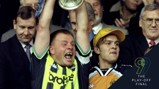 WINNER: Andy Morrison celebrates at Wembley Stadium in 1999.