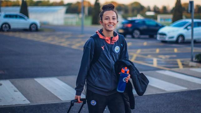 WEIR OFF : Caroline Weir flashes a grin