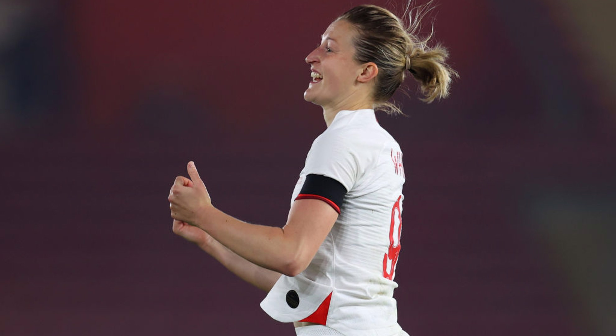 SPOT ON: Ellen White after converting her penalty