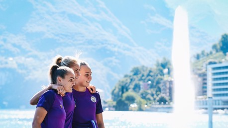 CHAMPIONS LEAGUE: The squad took a walk around Lake Lugano this morning ahead of the big game