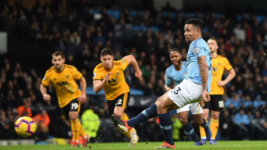 CAN'T STOP, WON'T STOP: Gabriel Jesus finds the back of the net.... again
