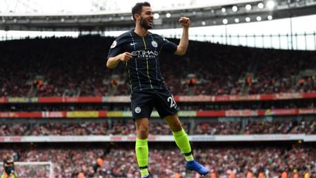 WHAT A HIT! Bernardo celebrates his goal