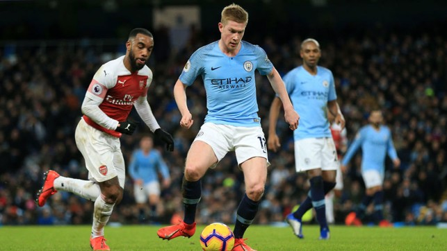IN CONTROL : De Bruyne looks to get City on the front foot