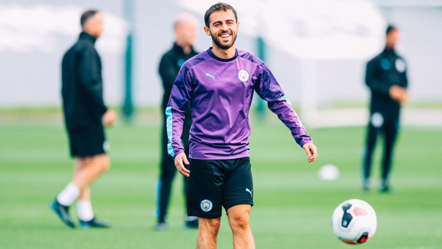 MAGIC MAN : Bernardo Silva was enjoying himself.
