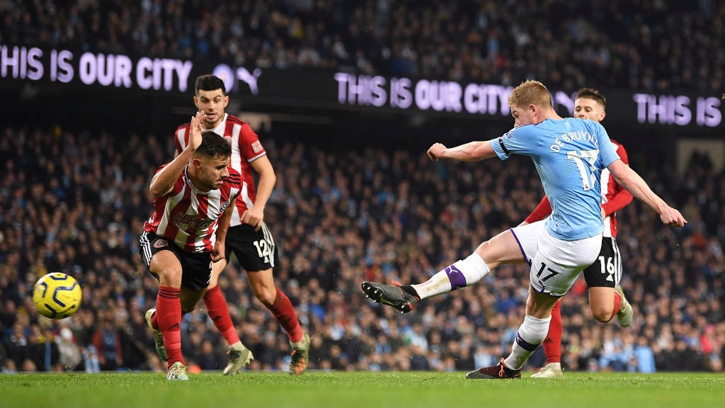 GAME, SET, MATCH : Kevin De Bruyne doubles our lead late on