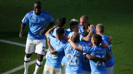 TOGETHER: City travel to Preston on the back of an emphatic victory over Watford.