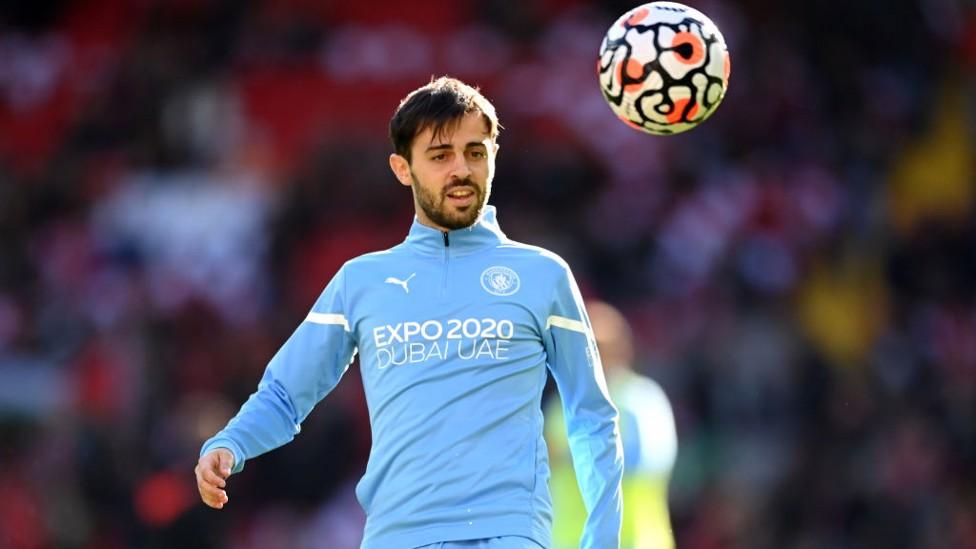 SILKY SILVA : Bernardo gets in the mood as kick-off approaches.