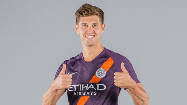 ALL SMILES : John Stones is clearly a fan of our new third kit!!