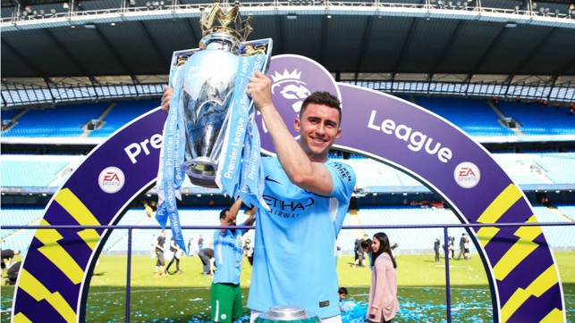 DAY TO REMEMBER : Our title success capped a memorable first six months at City for Aymeric