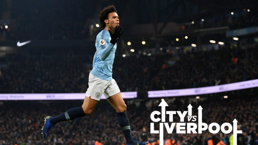 MOMENT TO SAVOUR : Leroy Sane celebrates his stunning winner over Liverpool
