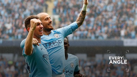 EL MAGO: David Silva marked his 250th Premier League appearance with a glorious goal