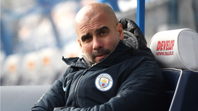 WATCHING BRIEF : Pep Guardiola is in relaxed mood ahead of kick-off at the John Smith's Stadium