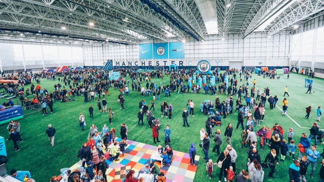 CFA : The fans explore the facilities here at the City Football Academy