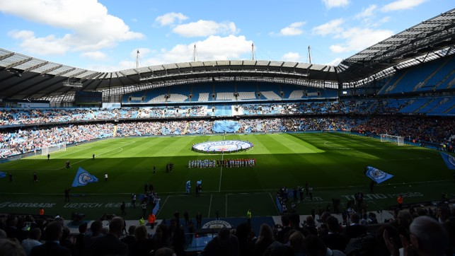 FANTASTIC : A record 30,000-plus crowd flocked to the Etihad to witness the historic derby
