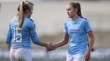 TOGETHER: Lauren Hemp and Georgia Stanway celebrate another big win