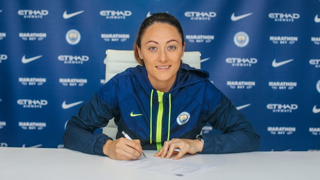 STAYING POWER : Megan pens her new contract
