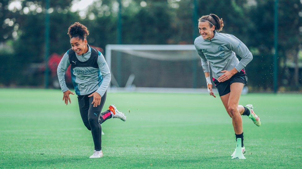 LIONESSES LEGENDS : The experienced heads in the squad - like Demi Stokes and Jill Scott - can steady the ship on Derby Day