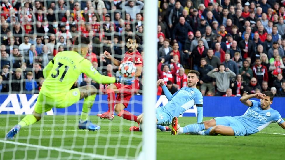 BEHIND AGAIN : Salah strikes Liverpool ahead.