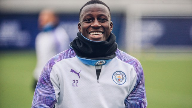 BIG BEN : Benjamin Mendy shows off his pearly whites
