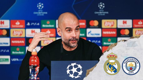 EXCITING PROSPECT: Manchester City manager Pep Guardiola looks ahead to our Champions League last 16 first leg tie at Real Madrid