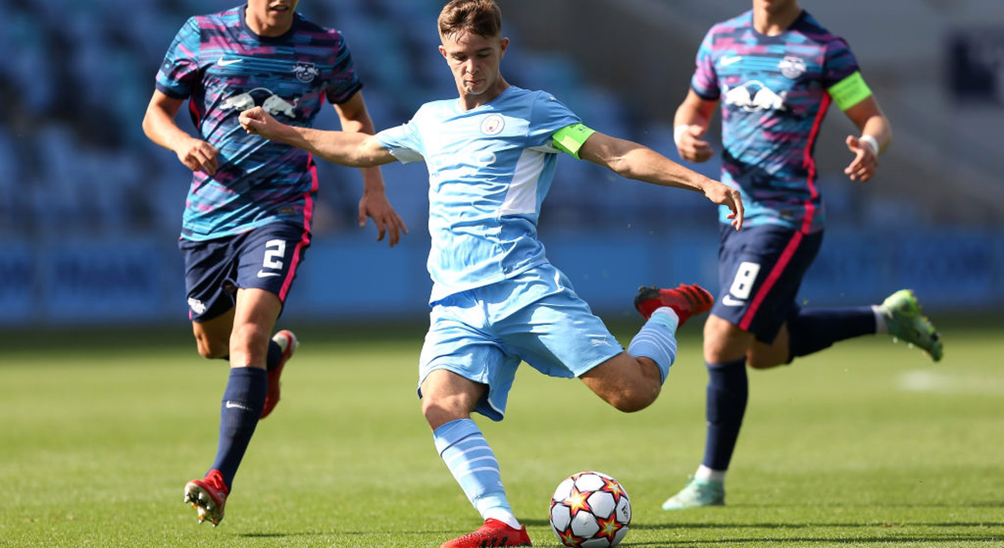 ACTION MAN: City EDS skipper James McAtee in the thick of the action