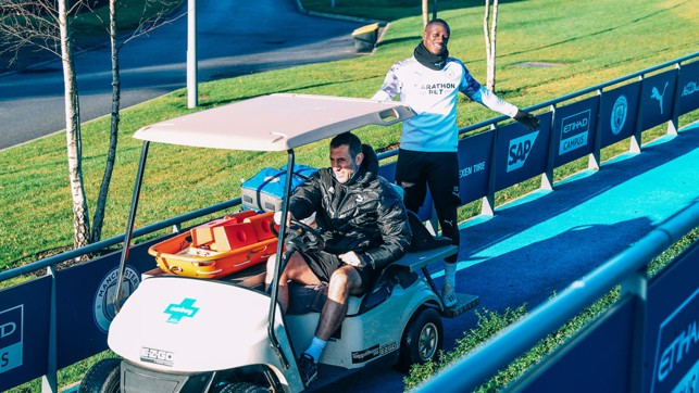JOY RIDE : Benjamin Mendy lifting spirits... by grabbing a lift!