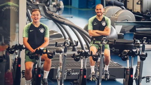CYCLING : Luke Bolton and David Silva.