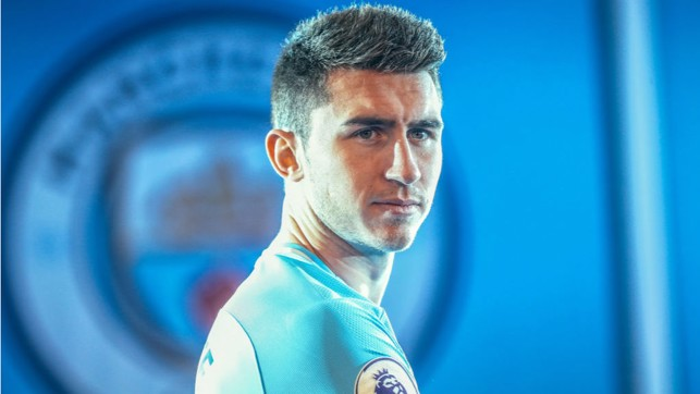 CENTRE OF ATTENTION : Aymeric in focus on his first official day as a City player