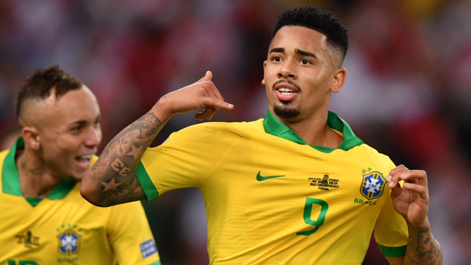 GIFT OF THE GAB: Gabriel Jesus was the star of the show