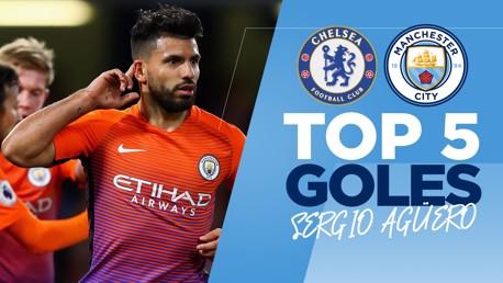 Top 5 de goles de Sergio Agüero al Chelsea