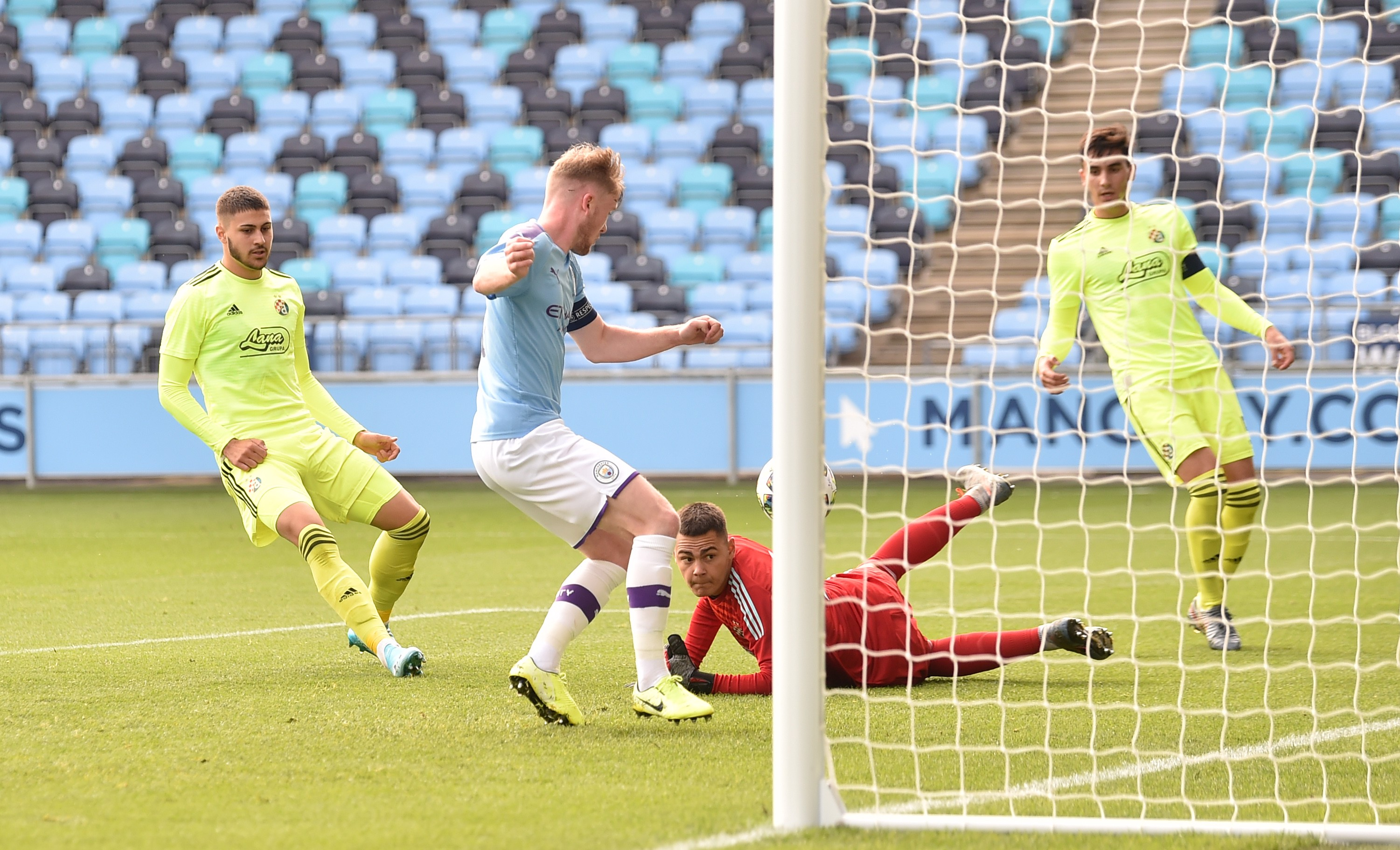ON TARGET : Tommy Doyle strikes to fire City ahead