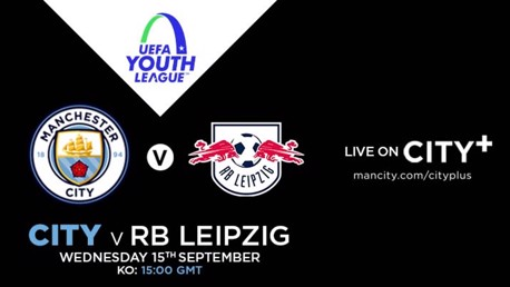City EDS v RB Leipzig U-19s: Watch live on CITY+