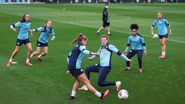 SQUAD GOALS: The City players go through their collective paces