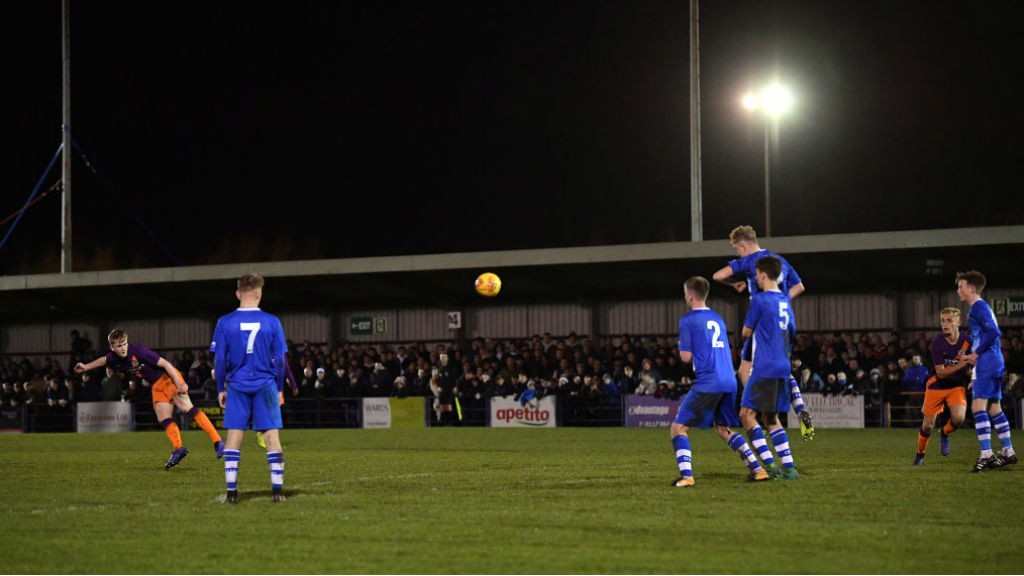 WHAT A STRIKE : Tommy Doyle fires home his spectacular free-kick