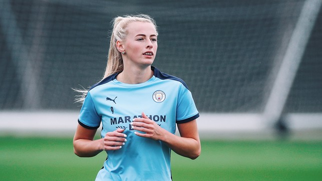 NEW BLUE : Our summer signing Chloe Kelly